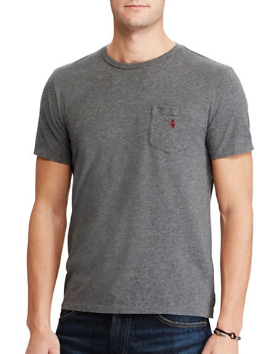 Polo Ralph Lauren Classic-Fit Cotton Tee-GREY-X-Large