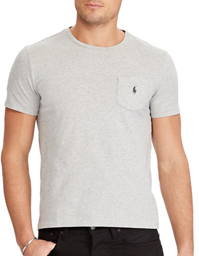 Polo Ralph Lauren Classic Fit Cotton Tee-GREY-XX-Large
