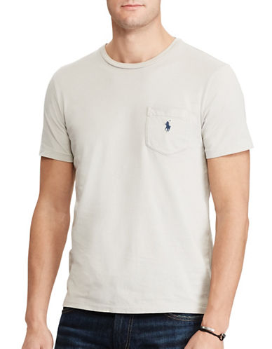 Polo Ralph Lauren Classic-Fit Cotton Tee-LIGHT GREY-X-Large