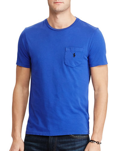 Polo Ralph Lauren Classic-Fit Cotton Tee-BLUE-Large