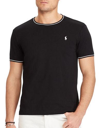Polo Ralph Lauren Custom Slim-Fit Cotton Mesh Tee-BLACK-X-Large 89286988_BLACK_X-Large