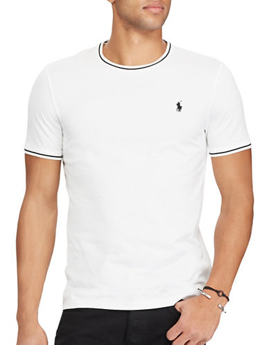 Polo Ralph Lauren Custom Slim-Fit Cotton Mesh Tee-WHITE-X-Large 89286993_WHITE_X-Large