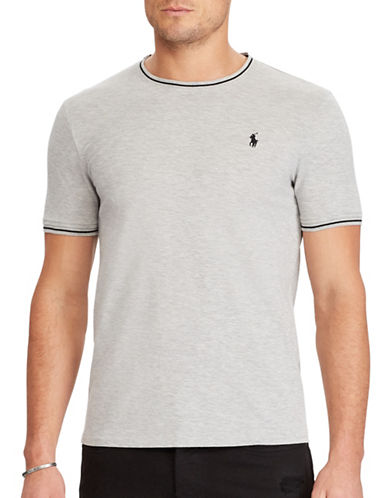 Polo Ralph Lauren Custom Slim-Fit Cotton Mesh Tee-GREY-XX-Large