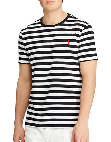 Polo Ralph Lauren Slim-Fit Striped Cotton Tee-BLACK-XX-Large 89246069_BLACK_XX-Large