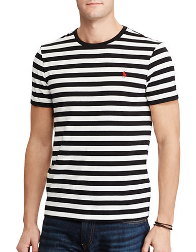 Polo Ralph Lauren Slim-Fit Striped Cotton Tee-BLACK-Large 89246070_BLACK_Large