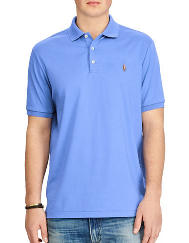 Polo Ralph Lauren Classic-Fit Soft-Touch Polo-BLUE-X-Large