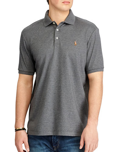 Polo Ralph Lauren Classic-Fit Soft-Touch Polo-GREY-Large