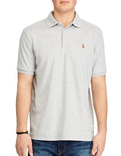 Polo Ralph Lauren Classic-Fit Soft-Touch Polo-LIGHT GREY-Large