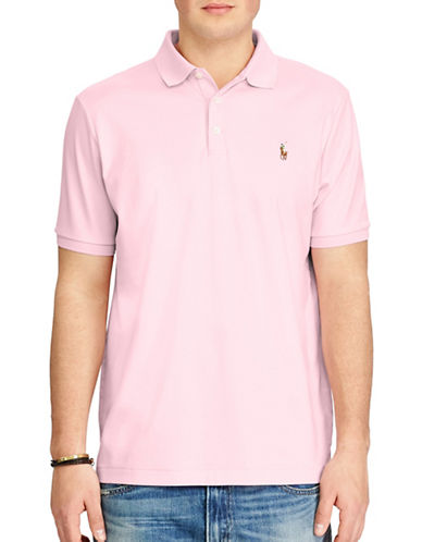Polo Ralph Lauren Classic-Fit Soft-Touch Polo-PINK-Medium