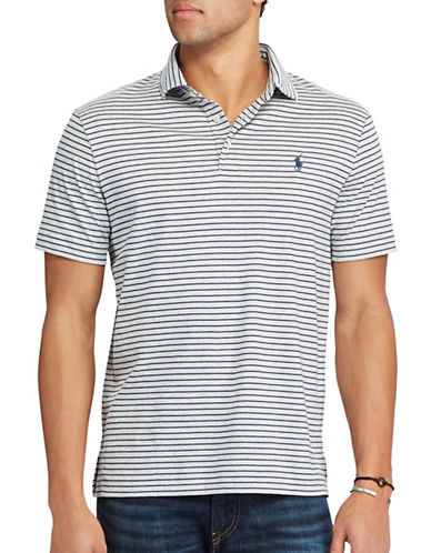 Polo Ralph Lauren Classic-Fit Soft-Touch Polo-GREY-X-Large
