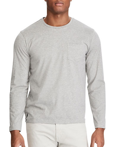 Polo Ralph Lauren Jersey Crew Neck Tee-NATURAL GREY-Large