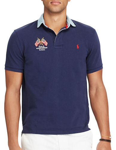 Polo Ralph Lauren Custom Slim-Fit Cotton Polo-CRUISE NAVY-XX-Large