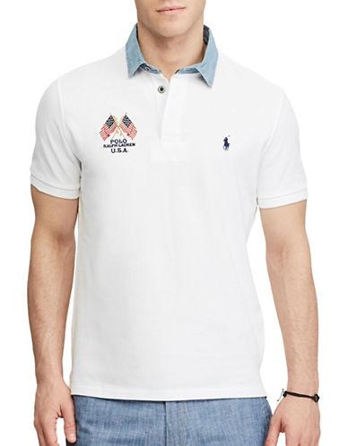 Polo Ralph Lauren Custom Slim-Fit Cotton Polo-WHITE-XX-Large
