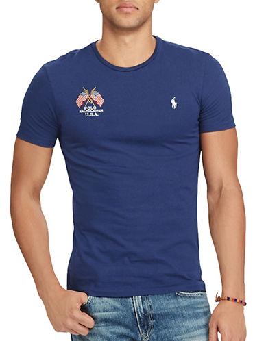 Polo Ralph Lauren Custom Slim-Fit Cotton T-Shirt-BLUE-Medium