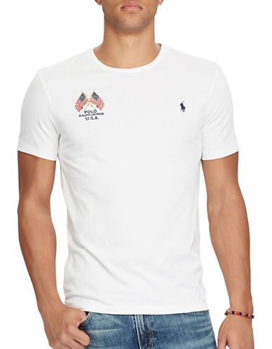 Polo Ralph Lauren Custom Slim-Fit Cotton T-Shirt-WHITE-X-Large 89246209_WHITE_X-Large