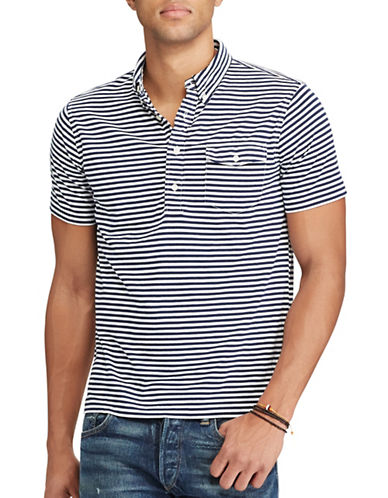 Polo Ralph Lauren Slim-Fit Striped Cotton T-Shirt-WHITE-X-Large 89246219_WHITE_X-Large