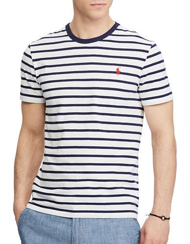 Polo Ralph Lauren Custom Slim-Fit Striped Cotton Tee-BLUE-XX-Large 89246230_BLUE_XX-Large