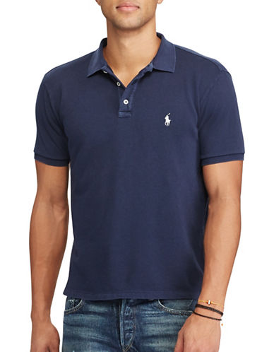 Polo Ralph Lauren Custom Slim- Fit Spa Terry Polo-BLUE-Medium 89246247_BLUE_Medium
