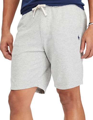 Polo Ralph Lauren Classic Cotton Spa Terry Shorts-GREY-Large