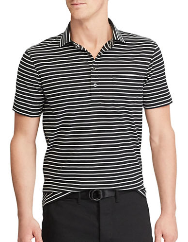 Polo Ralph Lauren Hampton Striped Cotton Shirt-BLACK-Small