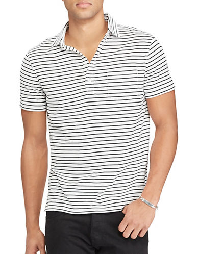Polo Ralph Lauren Hampton Striped Cotton Shirt-WHITE-X-Large