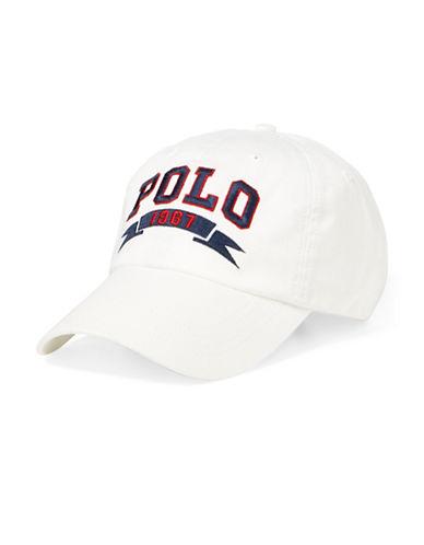 Polo Ralph Lauren Signature Sports Cap-WHITE-One Size