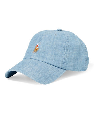 Polo Ralph Lauren Chambray Sports Cap-CHAMBRAY BLUE-One Size