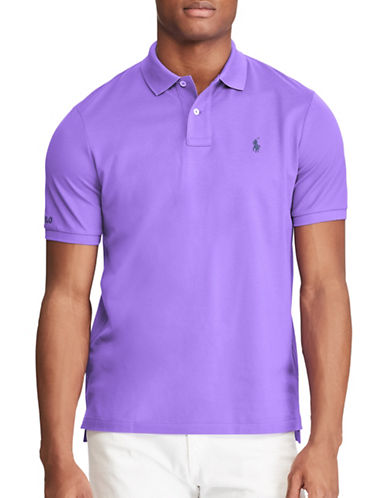 Polo Ralph Lauren Classic Fit Cotton Mesh Polo-PURPLE-Medium