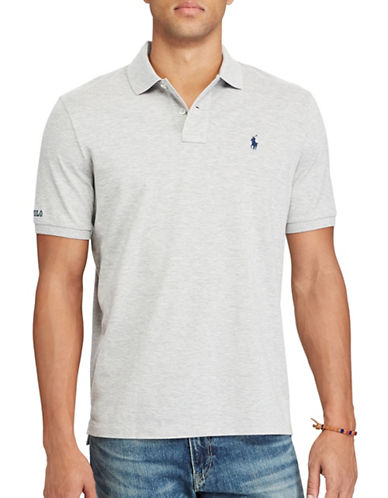 Polo Ralph Lauren Classic Fit Cotton Mesh Polo-GREY-Medium