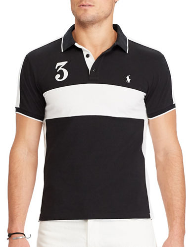 Polo Ralph Lauren Custom Slim-Fit Cotton Mesh Polo-POLO BLACK-Large