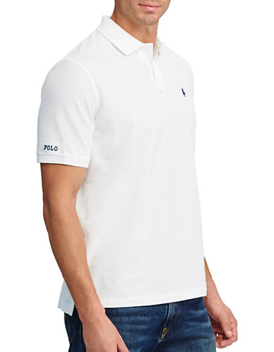 Polo Ralph Lauren Big and Tall Classic-Fit Cotton Mesh Polo-WHITE-4X Tall