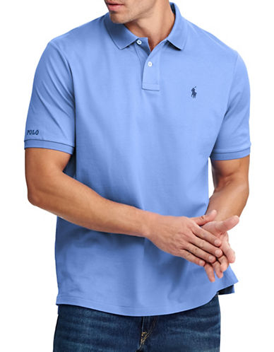 Polo Ralph Lauren Big and Tall Classic-Fit Cotton Mesh Polo-BLUE-4X Tall