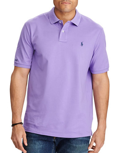 Polo Ralph Lauren Big and Tall Classic-Fit Cotton Mesh Polo-PURPLE-2X Tall