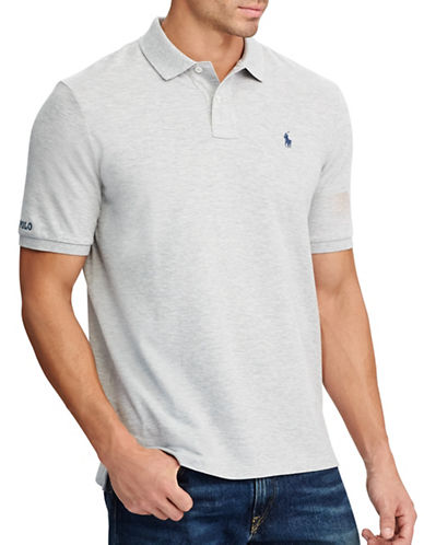 Polo Ralph Lauren Big and Tall Classic-Fit Cotton Mesh Polo-GREY-4X Tall