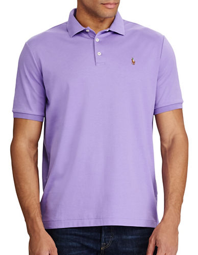Polo Ralph Lauren Big and Tall Classic-Fit Soft-Touch Polo-PURPLE-3X Tall