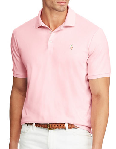 Polo Ralph Lauren Big and Tall Classic-Fit Soft-Touch Polo-PINK-3X Big