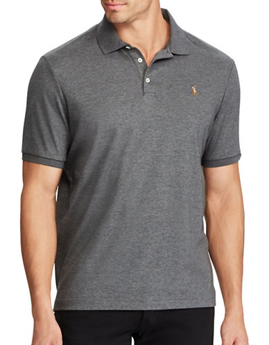 Polo Ralph Lauren Big and Tall Classic Fit Soft-Touch Cotton Polo-GREY-3X Tall