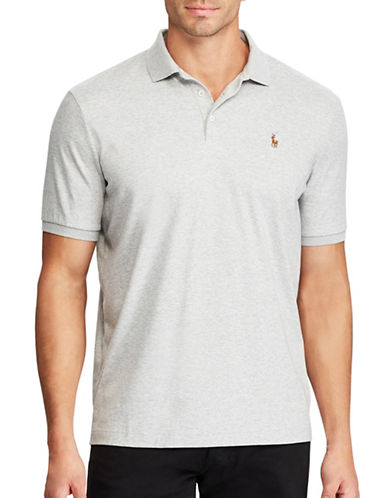 Polo Ralph Lauren Big and Tall Classic-Fit Soft-Touch Polo-GREY-5X Tall