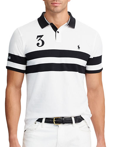 Polo Ralph Lauren Big and Tall Classic-Fit Featherweight Polo-WHITE-2X Big
