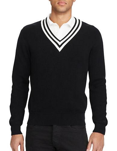 Polo Ralph Lauren Cotton Cricket Sweater-BLACK-X-Large