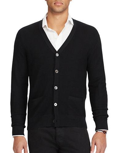 Polo Ralph Lauren Merino Silk Cashmere Cardigan-POLO BLACK-Medium 89287056_POLO BLACK_Medium