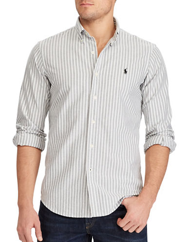 Polo Ralph Lauren Standard Fit Cotton Shirt-BLACK/WHITE-Small