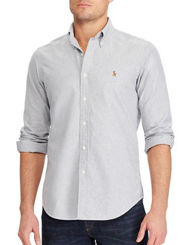 Polo Ralph Lauren Standard Fit Cotton Shirt-GREY-Medium 89286981_GREY_Medium