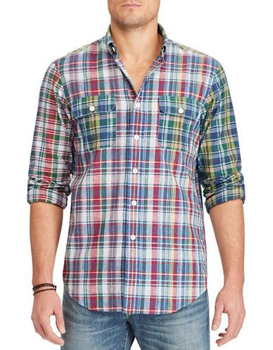 Polo Ralph Lauren Standard-Fit Madras Workshirt-BLUE-XX-Large