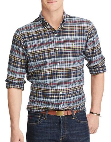 Polo Ralph Lauren Standard-Fit Madras Shirt-BLUE-Large