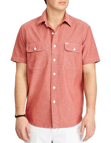 Polo Ralph Lauren Standard-Fit Cotton Workshirt-RED-Medium
