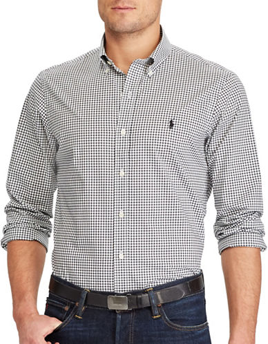 Polo Ralph Lauren Slim Fit Checked Cotton Shirt-WHITE-Large