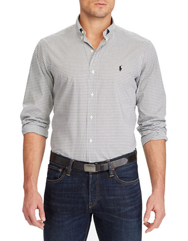 Polo Ralph Lauren Slim Fit Checked Sport Shirt-WHITE-XX-Large