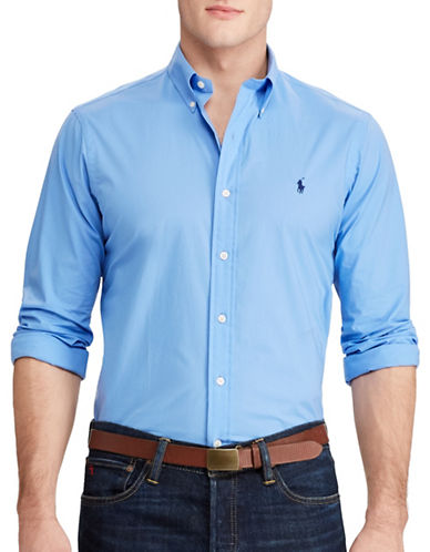 Polo Ralph Lauren Slim Fit Checked Sport Shirt-BLUE-X-Large