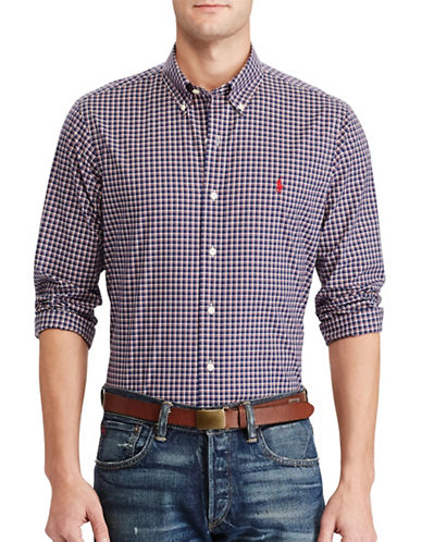 Polo Ralph Lauren Slim-Fit Plaid Cotton Shirt-BLUE-X-Large